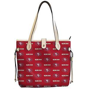 San Francisco 49ers Patterned Tote Bag Handbag