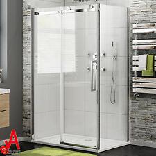 1200x800/900x1950 NEW Frameless Sliding Shower Screen Door+ Fixed Panel Optional