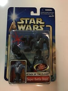 2002 Star Wars AOTC Attack of the Clones Super Battle Droid - MOC