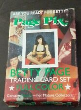 PAGE PIX 1991 Complete Boxed Set of 36 BETTIE PAGE Pin-Up Trading Cards