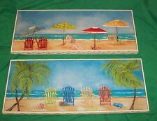 PULLEN ART OIL PAINTING TROPICAL DECOR WATER FRONT SANDY BEACHES PARADISE CABANA