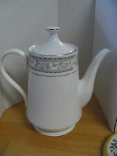 Lynns Fine China Pink Floral and Grey Trim Coffee Pot