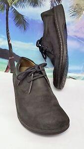 Birkenstck Derby Shoes Lace Up Blck Suede Sze 40 Mens 7 Women Ladies 9 Germany