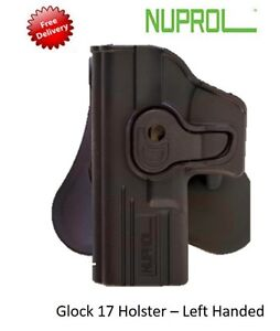 NEW NUPROL Retention Holster Glock 17 Left Handed Fits Airsoft WE, TM, KWA, VFC