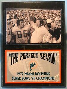 "1972 MIAMI DOLPHINS ""PERFECT SEASON"" SUBLIMATION PHOTO PLAQUE"