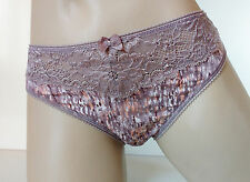 3PK  Pretty Praline Printed Silky High Leg Microfibre Panties Knickers UK 14 L