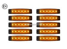 X 6 LED leuchte Begrenzungsleuchte Positionsleuchte orange 12v LKW E9