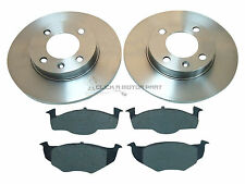 SEAT AROSA 1.0 1.2 1.4 1998-2004 FRONT 2 BRAKE DISCS AND PADS SET NEW (solid)