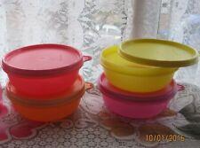 ^ Lot de 4 TUPPERWARE Buddy Bols, Snack-Pots, lunch box