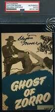 Clayton Moore Psa Dna Coa Autograph Zorro Photo Hand Signed Slabbed