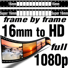 Super 16mm Movie Film to 1080p HD Frame by Frame Scan High Definition Transfer