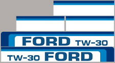 New Tw30 Ford Tractor Hood Decal Kit Tw30 High Quality Long Lasting Vinyl Decals