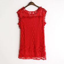 Womens Summer Lace Crochet Short Mini Dress Evening Party Beach Boho Sundress