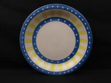 Bradshaw Dinner Plate Yellow Blue Border White Dots & Center L106