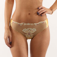 NWT La Perla Paisley Embroidered Silk Blend Sheer Lace Brief Size 1(IT) XS(US)