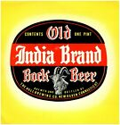 Old India Brand Bock Beer New Haven Connecticut Hull Brewing Company One Pint