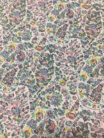 Vintage  Viyella Fabric 110 cm wide x 2  metres - RARE Paisleys minimal flowers
