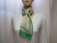 9521312cfefda CAROLINE ROHMER Foulard écharpe - Vert - 100% soie - Vintage