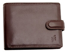 Starhide Mens RFID Luxury Leather Wallet Purse With Secure Coin Pocket 825-BROWN