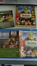 SHREK FELICES PARA SIEMPRE BLU-RAY + DVD DREAMWORKS CASTELLANO E INGLES
