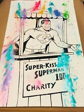 MR CLEVER ART SUPERMAN KISSING BOOTH PAINTING abstract contemporary street art