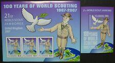 St. Vincent 2007 Pfadfinder Scouts Scouting 6350 + Block 673 Postfrisch MNH