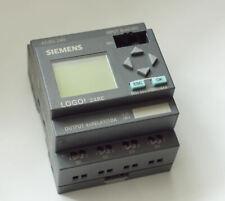 Siemens Logo! 24RC  Controller I/P  8xAC/DC.  O/P 4 Relay/10A.  Supply AC/DC 24V