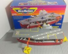 Galoob Micro Machines 1988 Aircraft Carrier nearly complete Vintage w/ box