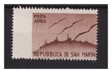 SAN MARINO 1946 - POSTA AEREA  VEDUTE ( 1 ) LIRA  VARIETA'   NUOVO **