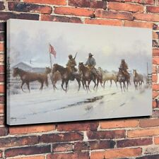 "Art QUALITY CANVAS PRINT -Horses For The Confederacy wall decor A4000,18""x24"""