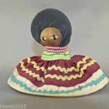 Miniature Seminole Indian Doll Cloth Palmetto Fiber Husk by Seminole Tribe –D24