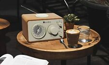 Retro Wood Am FM Radio Bluetooth Vintage Analog Table Top AUX Line in Jack