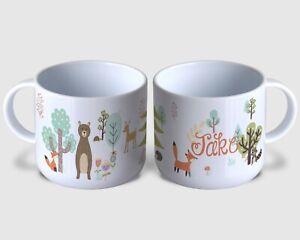Woodland Forrest Animals Children's Personalised Mug Unbreakable Kids Toddler