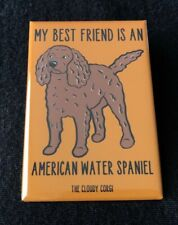 American Water Spaniel Magnet Handmade Dog Gifts Refrigerator and Locker Decor