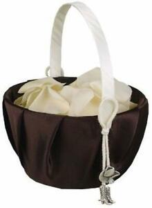 Flower Basket Brown Satin Silver Cowboy Boots & Hat Charm Hortense Hewitt NIB