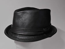 Jill Corbett pinch trilby black uber leather Handmade to order UK  S/M/L/XL