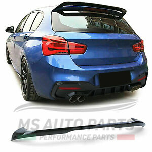 SPOILER POSTERIORE ALETTONE BMW SERIE 1 F20 F21 2011-2019 NERO LUCIDO ABS MSPORT