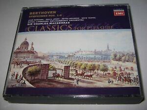 BEETHOVEN : SYMPHONIES 1-9 (1990s)  RLPO  Charles Mackerras    RARE 5 CD BOX SET