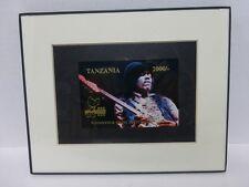 Jimi Hendrix 1995 Tanzania Woodstock Stamp On A Frame Limited