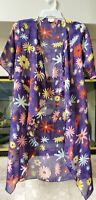 Small LuLaRoe Shirley Kimono Beautiful Multi Color Floral NWOT