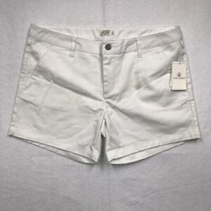 Volcom Womens Frochickie Midi Shorts White Stretch Vintage Juniors 11 New