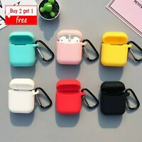 For Apple AirPods 1st 2nd Case Earphone Silicone Protective Charging Cover Clasp