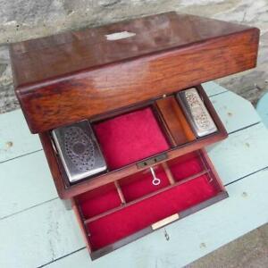 An Antique Box. Toilet Box. Rosewood 1880's.Locks & 2 Keys.   (331)