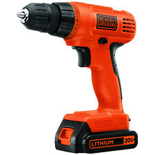 Black & Decker 20V LD120C 20 Volt  3/8 Inch Lithium-Ion DRILL w/ Battery Charger