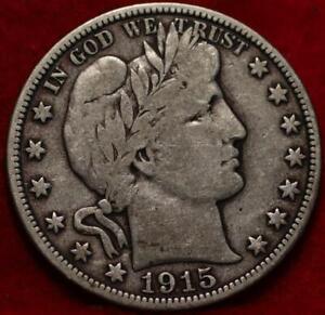 1915-D Denver Mint Silver Barber Half Dollar
