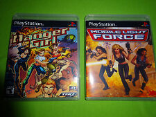 Empty Replacement Cases! Danger Girl + Mobile Light Force  Girl  PS1 PS2 PS3