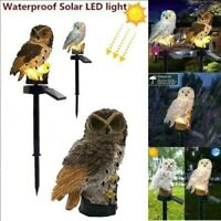 Waterproof Owl Solar Powered Garden Light LED Outdoor Ornament Lawn Novelty Lamp