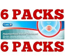 6 × 25g HAEMORRHOID / Hemorrhoid Piles, RELIEF OINTMENT CREAM 25g Free Post