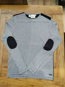 Men's DKNY Long Sleeve Grey T-shirt Size M (L)