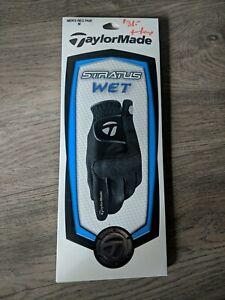 taylormade stratus golf gloves wet rain black NEW - M